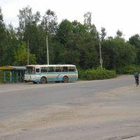 Остановка автобуса, Максатиха___ Bus stop, Maksatikha, Максатиха