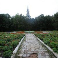 Колокольня церкви Спаса Преображения 1787-89 гг. Церковь разобрана перед войной, Осташков