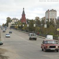 Rzhev, bridge. Ржев мост через Волгу, вид с Б. Спасской., Ржев
