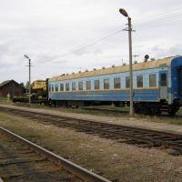 Восстановительный поезд на ст.Сандово. Тверская обл., Сандово