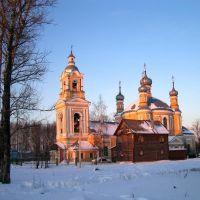 Церковь Илии Пророка, на закате. Старица, Старица
