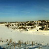 Одна из первых моих панорам, Свято-Успенский монастырь с высоты валов Городища. Старица, Старица
