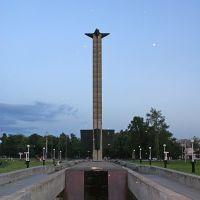 памятник победы и светящиеся объекты, Тверь