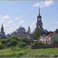Торжок. Вид на Борисоглебский монастырь. 07.2012., Торжок