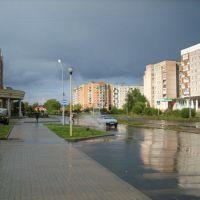 Улица после дождя. 2007г., Удомля