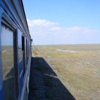 Polopoušť blízko Kazašských hranic, Каспийский