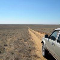 дорога через степь в Дагестан, Каспийский