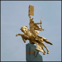 Rider hovering above the steppe, Приютное