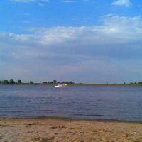 запечетленная яхта на большой Волге, Цаган-Аман