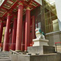 Снежный лев охраняющий обитель Будды, Элиста