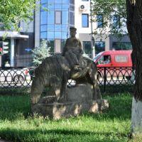 statue on the street, Элиста