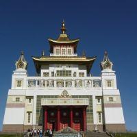 Будийский храм - самый крупный в Европе. Элиста. Калмыкия., Элиста