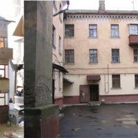 фон для пластилиновой игры. дом по подобию, что находится в городе Балабаново (угловой) со двора, Балабаново