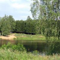 Широкая панорама на пруд в пос. Белоусово, Белоусово
