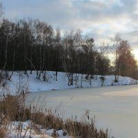 Белоусовский пруд зимой 2012г., Белоусово