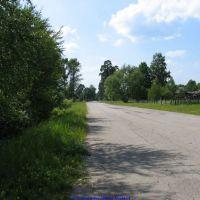 Въезд на Еленский по дороге на Клён (11.06.2009), Еленский