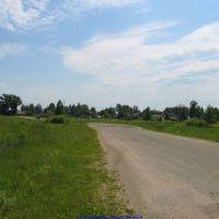 Въезд в п.Еленский со стороны Долины (12.06.2009), Еленский