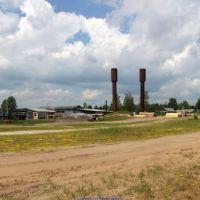 Раньше здесь был стекольный завод, а теперь - пилорама (12.06.2011), Еленский