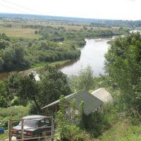 """Вид со стороны """"древнего города"""" на окружающую территорию, в низу протекает река Жиздра., Козельск"""