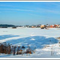 Зима. Вид с городского пляжа., Кондрово