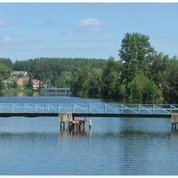 "Вид с авто-моста на ""висячий"" мост, Кондрово"