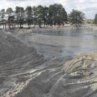 намывание песка, Людиново