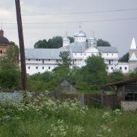 вид на монастырь, Мещовск