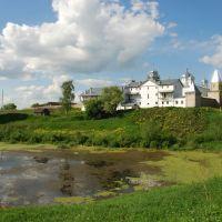 Мещовск. Вид пригородного Георгиевского монастыря с юго-восточной стороны, Мещовск