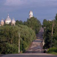 Мещовск. Въезд в город с западной его стороны. Июнь 2005 года, Мещовск