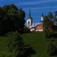 Собор Николая чудотворца. Вид с мостика., Мосальск
