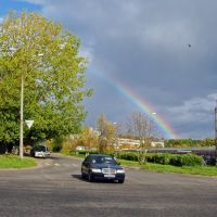 Городской пейзаж с радугой, Обнинск