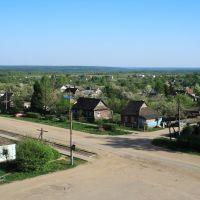 Ульяново. Вид с колокольни на село., Ульяново