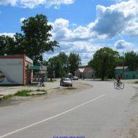 Перекрёсток у автостанции в с.Хвастовичи (06.06.2010), Хвастовичи