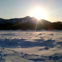 10.03.2013. Панорамный вид на закат., Вилючинск