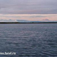 Вулкан Опала и река Большая, Большерецк