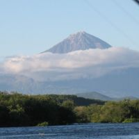 Opala volcano - view from Opala river, Kamchatka, September 2010, Большерецк