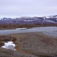 Река Плотникова в начале мая, Большерецк