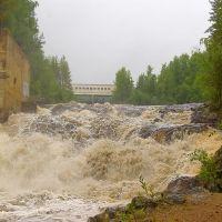 Гирвас, cпуск воды на  ГЭС.SHURENS., Гирвас