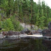 Скальные стенки на реке Суна рядом с посёлком Гирвас, Карелия, Гирвас