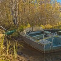 boat near the house of the fisherman, Ильинский
