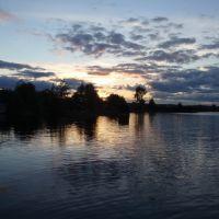 Закат . Нигозеро., Кондопога