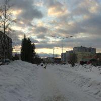 Вид на площадь ДК, Костомукша