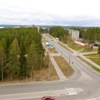 Вид на улицу Мира, Костомукша - View of Mira street, Костомукша