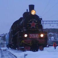 Паровоз на вокзале в Медгоре, Медвежьегорск