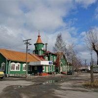 Железнодорожный вокзал города Медвежьегорска - Railway station in Medvezhegorsk, Медвежьегорск
