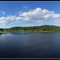 р. Чирко-Кемь с моста возле Тикши между оз. Мергубское и Калмозеро, Муезерский