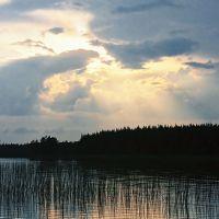 Закат #5. Озеро Коппалоярви., Муезерский