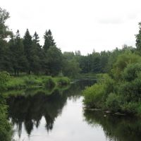 Олонец. Река Мегрега (Megrega river in Olonets), Олонец