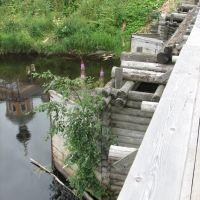 Олонец. Мост через Олонку (Bridge across Olonka river in Olonets), Олонец