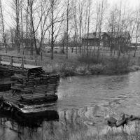Олонец, разрушенный мост, Олонец